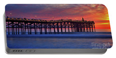 Crystal Pier In Pacific Beach Decorated With Christmas Lights Portable Battery Charger