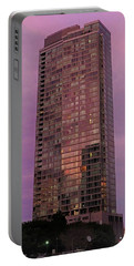 Crystal Skyscraper Sunset Portable Battery Charger