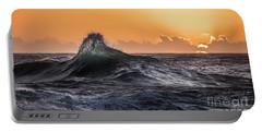 Crystal Wave Sunset Napali Coast Kauai Hawaii Portable Battery Charger