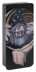 Portable Battery Charger featuring the drawing Crystal Wizard by Michael  TMAD Finney
