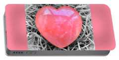Crystallized Heart Portable Battery Charger by Hazy Apple