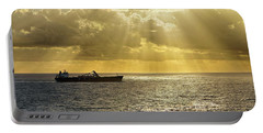 Portable Battery Charger featuring the photograph Csl Spirit At Sunrise - Caribbean Ocean - Seascape - Ship by Jason Politte