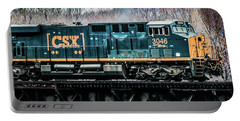 Csx  Ge Engine 3046 On Trestle Portable Battery Charger