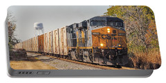 Portable Battery Charger featuring the photograph Csx - Tropicana Juice Train by John Black