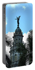 Cuba Rooftop W Protection Statue Portable Battery Charger