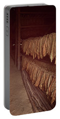 Portable Battery Charger featuring the photograph Cuban Tobacco Shed by Joan Carroll