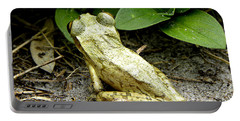 Portable Battery Charger featuring the photograph Cuban Tree Frog 002  by Chris Mercer