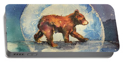 Portable Battery Charger featuring the painting Cubbie Bear by Christy Freeman