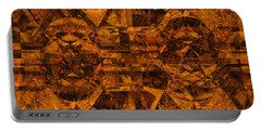 Cubism Abstract Gold Rust Portable Battery Charger