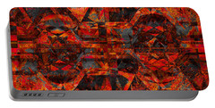 Cubist Abstract Orange Charcoal Portable Battery Charger