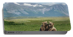 Cubs Playing On The Bluff Portable Battery Charger