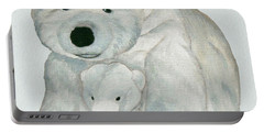 Cuddly Polar Bear Watercolor Portable Battery Charger