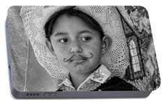 Portable Battery Charger featuring the photograph Cuenca Kids 883 by Al Bourassa