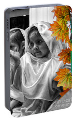 Portable Battery Charger featuring the photograph Cuenca Kids 885 by Al Bourassa