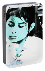 Portable Battery Charger featuring the photograph Cuenca Kids 886 by Al Bourassa