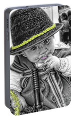 Portable Battery Charger featuring the photograph Cuenca Kids 888 by Al Bourassa