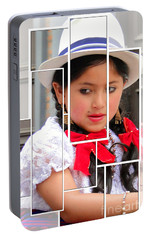 Portable Battery Charger featuring the photograph Cuenca Kids 890 by Al Bourassa