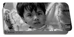 Portable Battery Charger featuring the photograph Cuenca Kids 893 by Al Bourassa