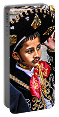 Portable Battery Charger featuring the photograph Cuenca Kids 897 by Al Bourassa