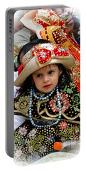 Portable Battery Charger featuring the photograph Cuenca Kids 900 by Al Bourassa
