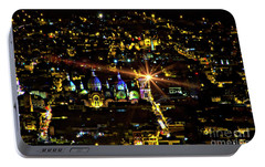 Portable Battery Charger featuring the photograph Cuenca's Historic District At Night by Al Bourassa