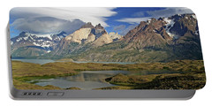 Cuernos Del Pain And Almirante Nieto In Patagonia Portable Battery Charger