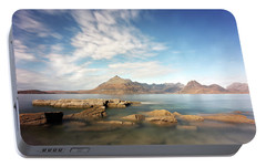 Portable Battery Charger featuring the photograph Cuillin Mountain Range by Grant Glendinning