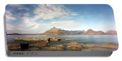 Cuillin Mountain Range Portable Battery Charger by Grant Glendinning