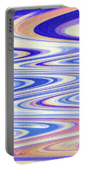 Cumulus Clouds And Blue Sky Abstract Portable Battery Charger by Tom Janca