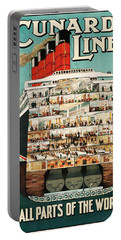 Cunard Liner Poster Portable Battery Charger
