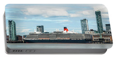 Cunard's Queen Elizabeth At Liverpool Portable Battery Charger