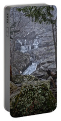 Portable Battery Charger featuring the photograph Cunningham Falls In The Rain And Fog by Mark Dodd