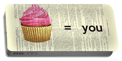 Pink Cupcake Equals You Print On Dictionary Paper Portable Battery Charger
