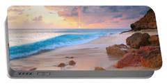 Cupecoy Beach Sunset Saint Maarten Portable Battery Charger by Roupen  Baker