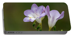 Cupertino Lavender Freesias Portable Battery Charger