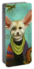 Curious As A Fox Portable Battery Charger by Leah Saulnier The Painting Maniac