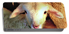 Curious Newborn Lamb Portable Battery Charger