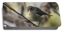 Curious Ruby-crowned Kinglet Portable Battery Charger