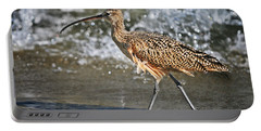 Curlew And Tides Portable Battery Charger by William Lee