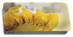 Curling Petals On Sunflower Portable Battery Charger