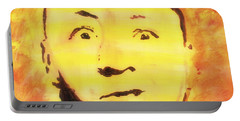 Curly Howard Three Stooges Pop Art Portable Battery Charger by Bob Baker