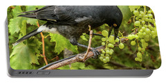 Currawong On A Vine Portable Battery Charger