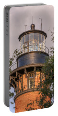Currituck Beach Lighthouse Close-up Portable Battery Charger