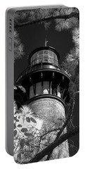 Portable Battery Charger featuring the photograph Currituck Beach Lighthouse In Infrared by Liza Eckardt