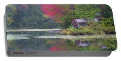 Curtis Pond Misty Autumn Portable Battery Charger by Alan L Graham
