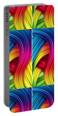 Curved Abstract Portable Battery Charger by Sheila Mcdonald