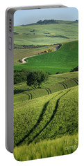 Portable Battery Charger featuring the photograph Curvy Lines In Tuscany by IPics Photography