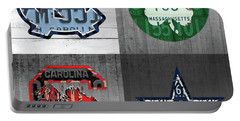 Custom 4 Team License Plates Sport Art No 1 Portable Battery Charger