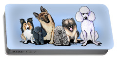 Custom Breed4ginnie Print Portable Battery Charger