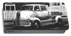 Portable Battery Charger featuring the photograph Custom Chevy Asbury Park Nj Black And White by Terry DeLuco